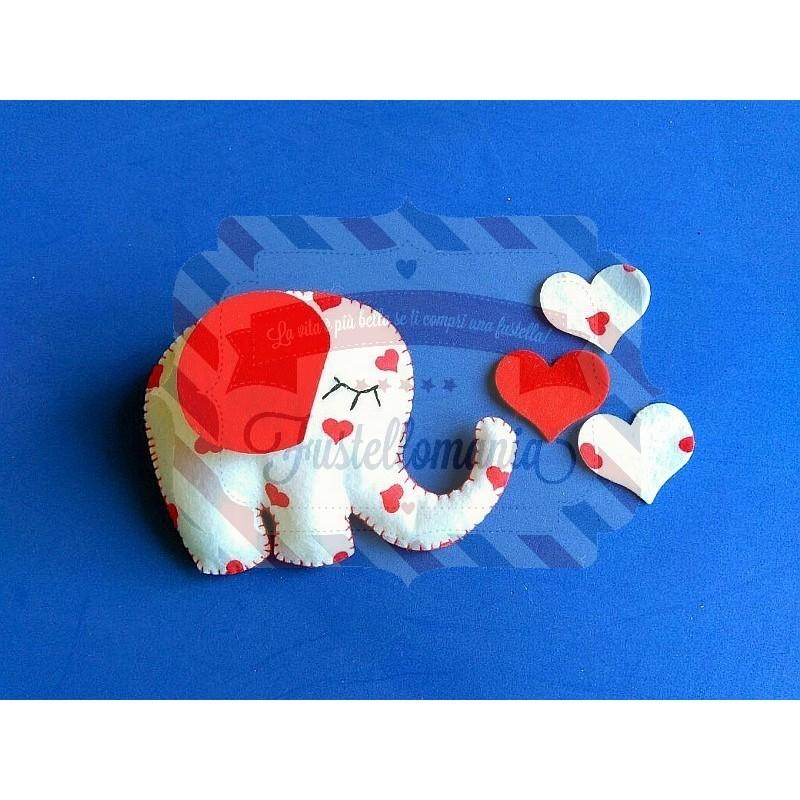 Fustella Elefantino con cuore